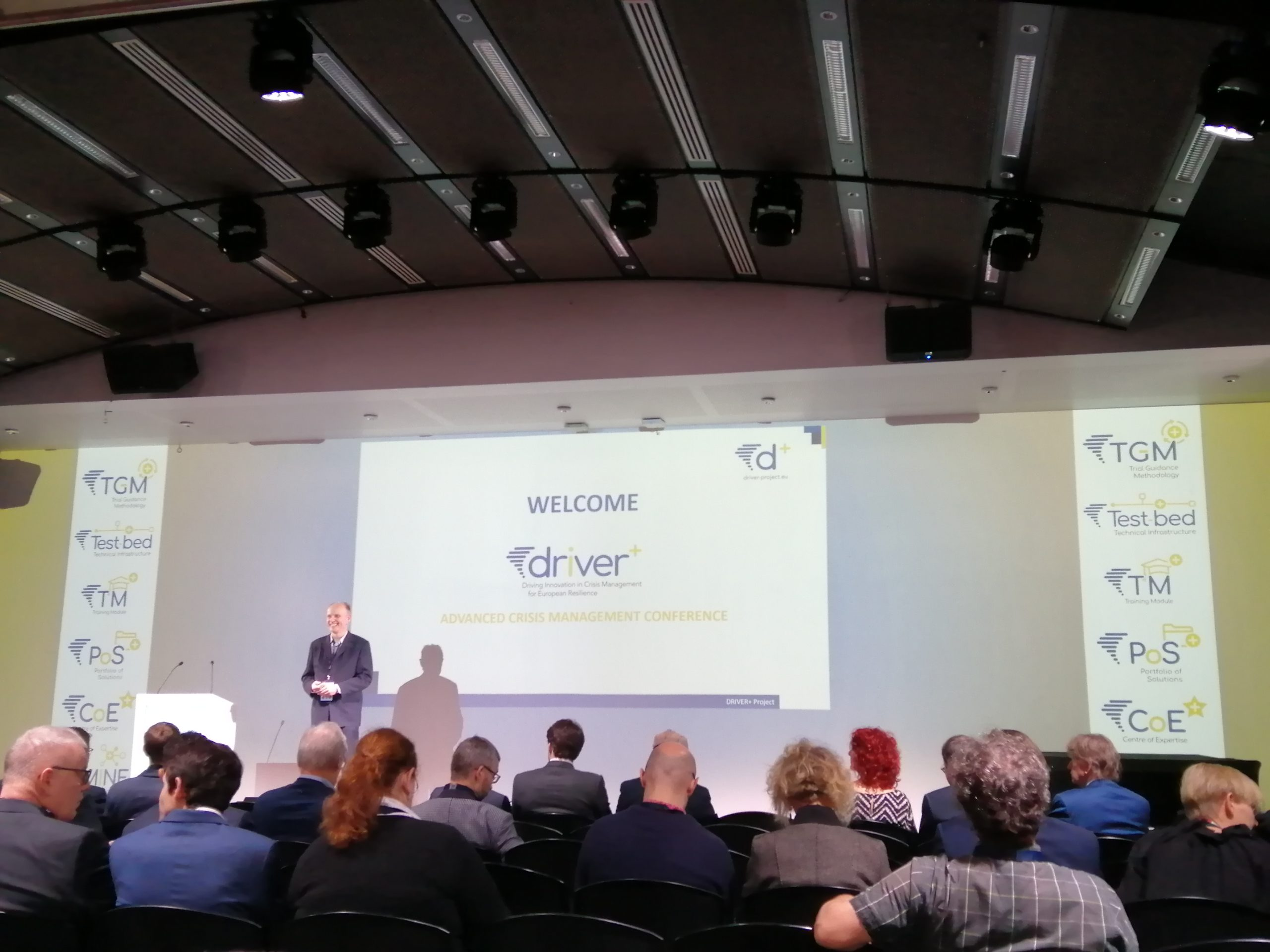 Dr. Marcel van Berlo opens the Driver+ Final Conference