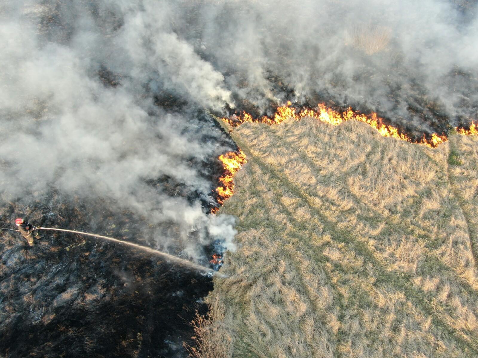firefighters using UAV